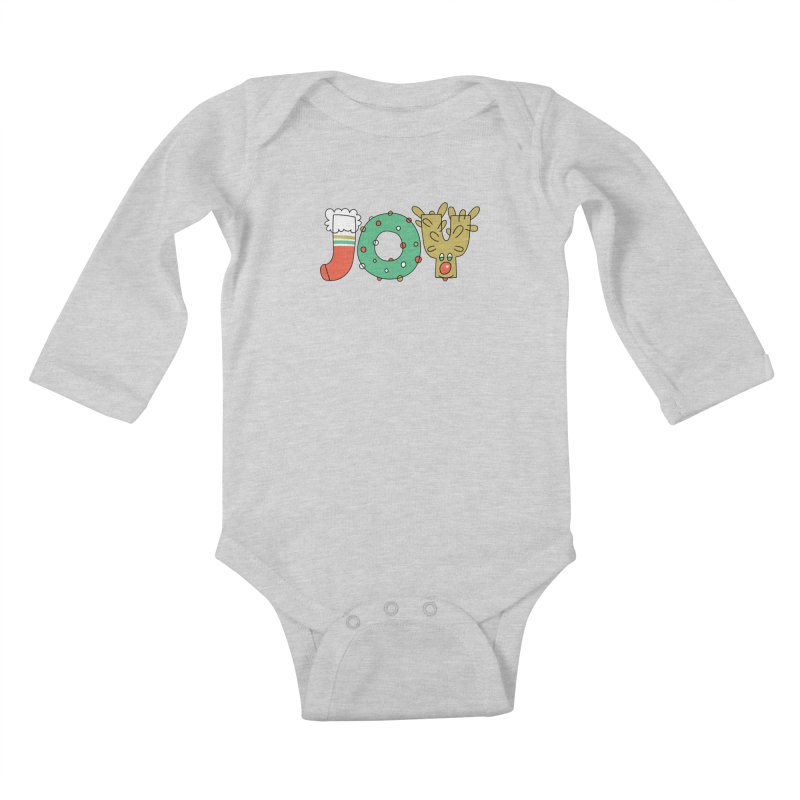 JOY (Christmas) Kids Baby Longsleeve Bodysuit by Hi Hello Greetings
