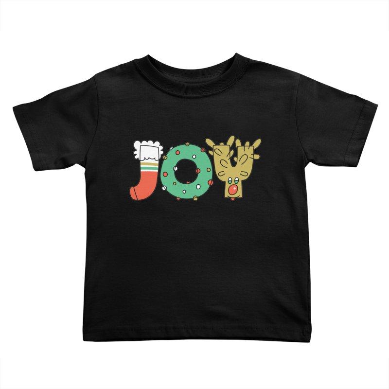JOY (Christmas) Kids Toddler T-Shirt by Hi Hello Greetings
