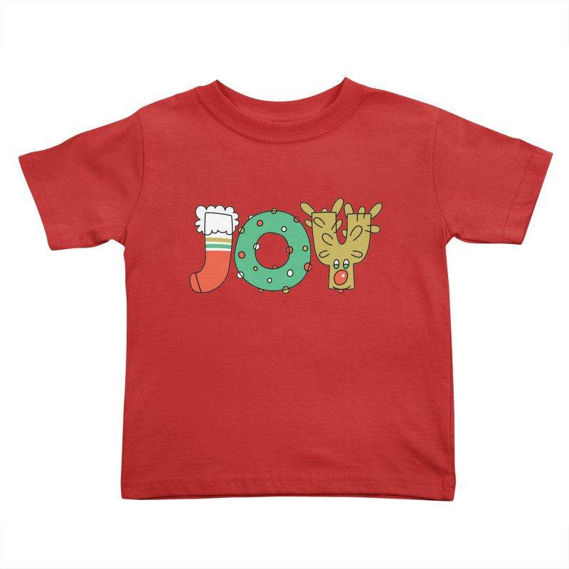 JOY (Christmas) Kids Toddler T-Shirt by Hi Hello Greetings