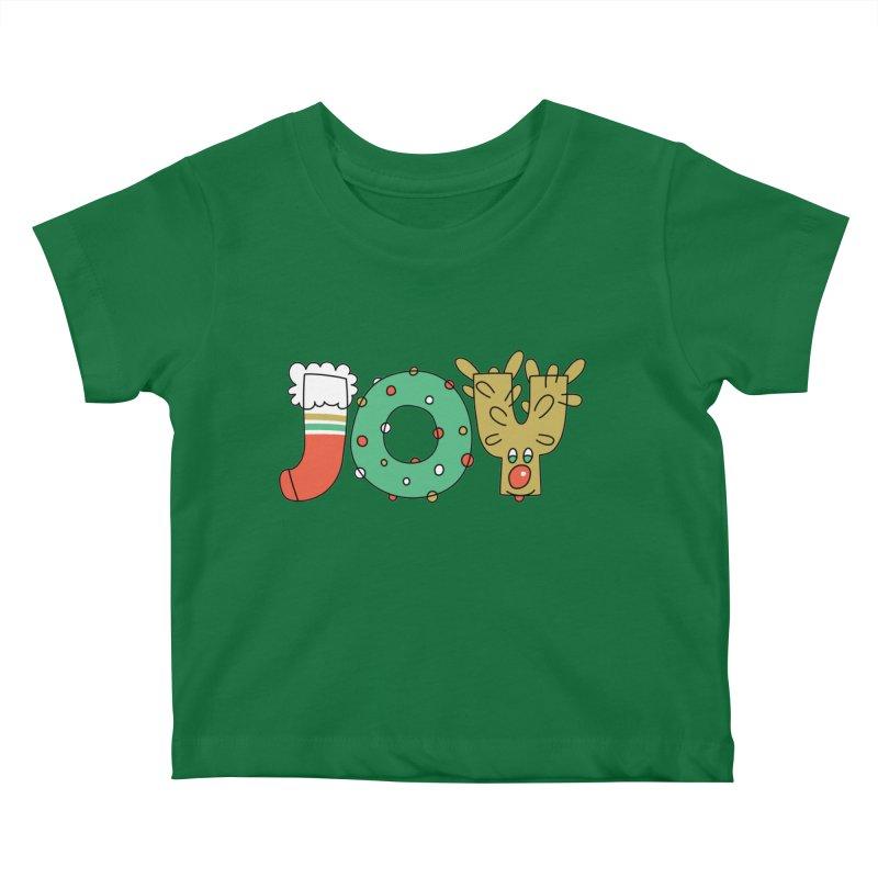 JOY (Christmas) Kids Baby T-Shirt by Hi Hello Greetings