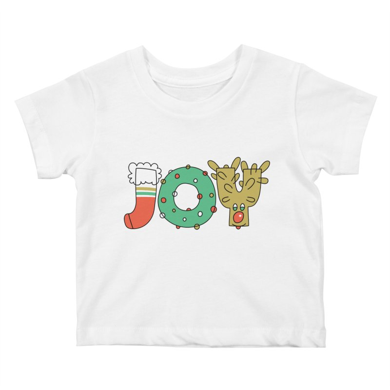 JOY (Christmas) Kids Baby T-Shirt by Hi Hello Greetings