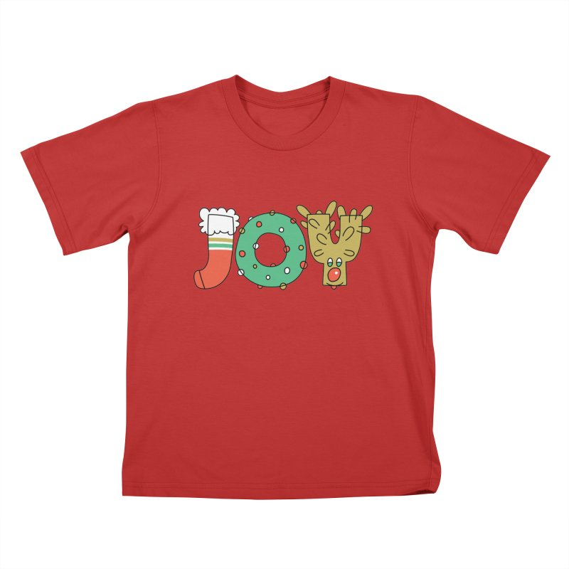 JOY (Christmas) Kids T-Shirt by Hi Hello Greetings