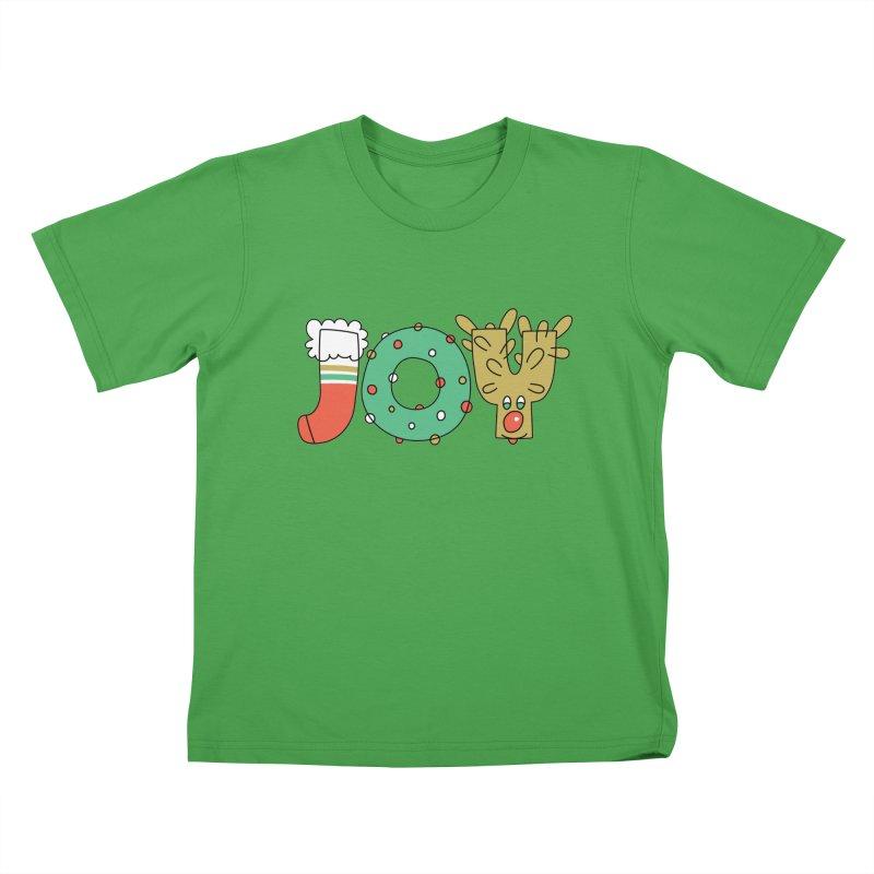 JOY (Christmas) Kids T-Shirt by Hi Hello Greetings
