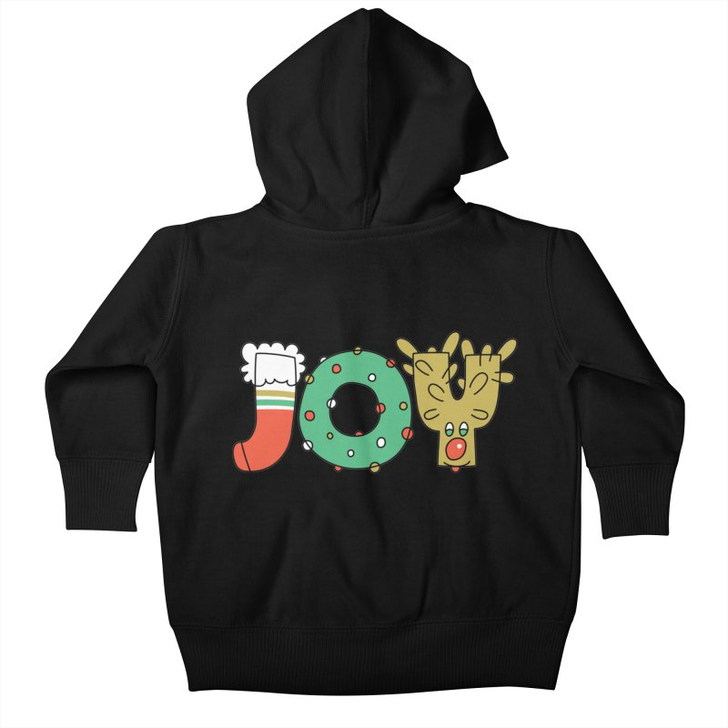 JOY (Christmas) Kids Baby Zip-Up Hoody by Hi Hello Greetings