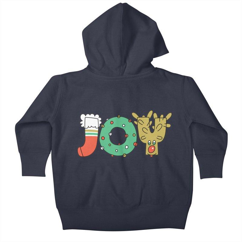 JOY (Christmas) Kids Baby Zip-Up Hoody by Hi Hello Greetings