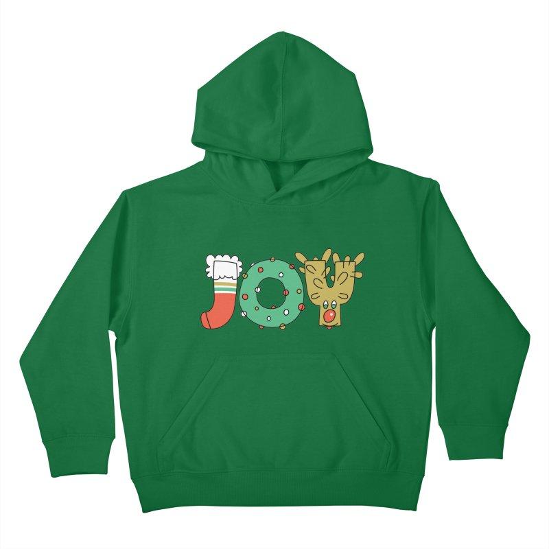 JOY (Christmas) Kids Pullover Hoody by Hi Hello Greetings