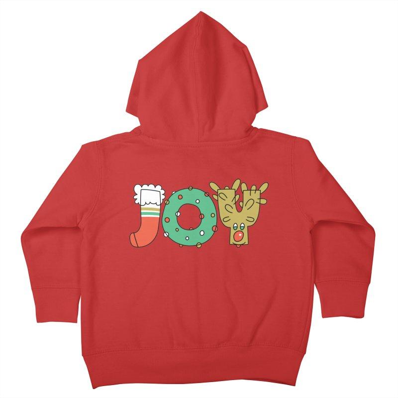 JOY (Christmas) Kids Toddler Zip-Up Hoody by Hi Hello Greetings