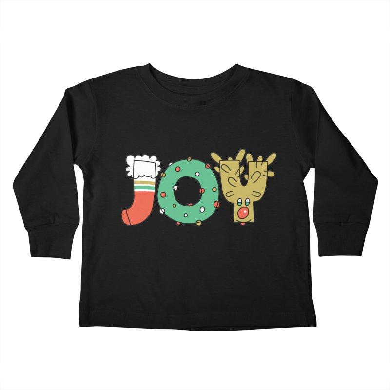 JOY (Christmas) Kids Toddler Longsleeve T-Shirt by Hi Hello Greetings