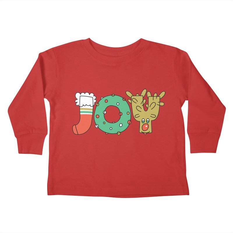 JOY (Christmas) Kids Toddler Longsleeve T-Shirt by Hi Hello Greetings