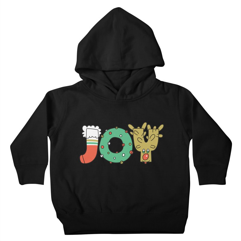 JOY (Christmas) Kids Toddler Pullover Hoody by Hi Hello Greetings