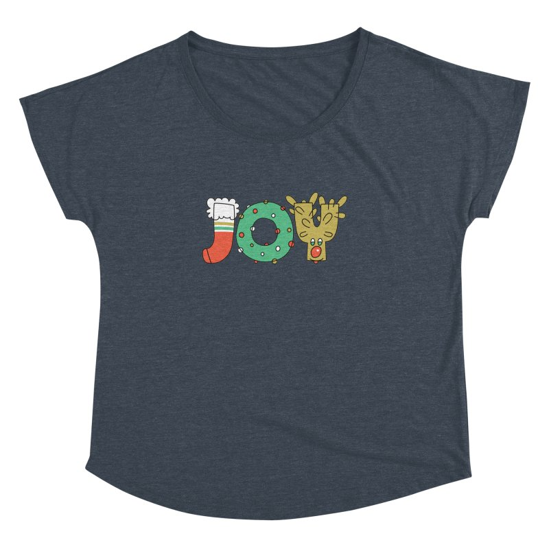 JOY (Christmas) Women's Dolman Scoop Neck by Hi Hello Greetings