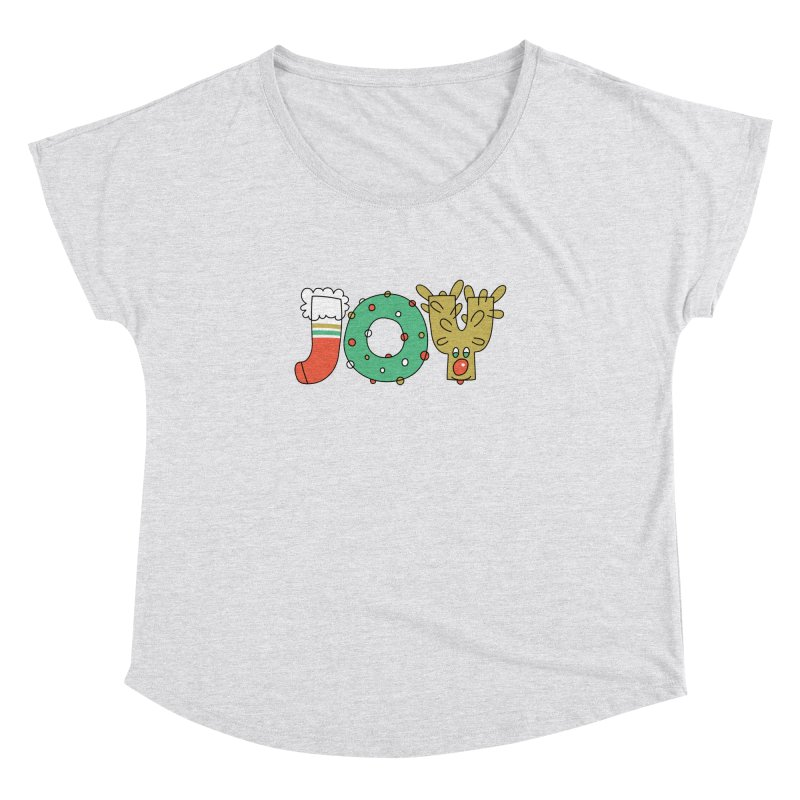 JOY (Christmas) Women's Dolman Scoop Neck by Hi Hello Greetings