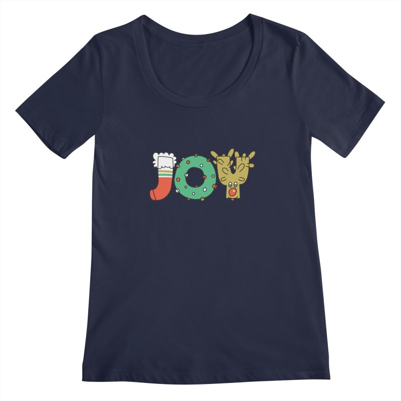 JOY (Christmas) Women's Regular Scoop Neck by Hi Hello Greetings