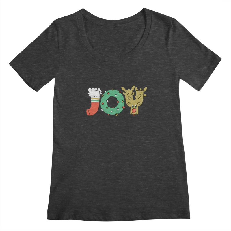 JOY (Christmas) Women's Scoopneck by Hi Hello Greetings
