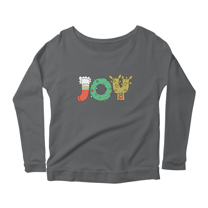 JOY (Christmas) Women's Scoop Neck Longsleeve T-Shirt by Hi Hello Greetings