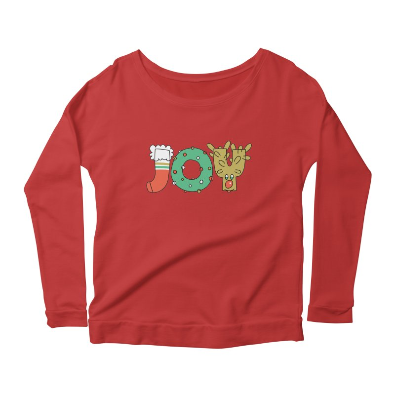 JOY (Christmas) Women's Longsleeve Scoopneck  by Hi Hello Greetings