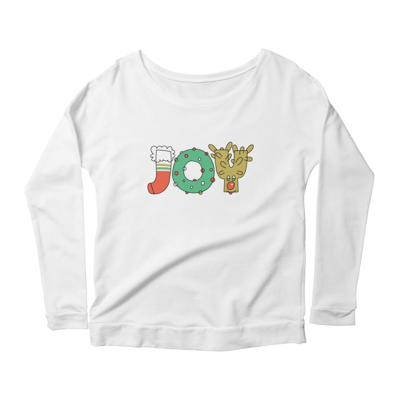 JOY (Christmas) Women's Scoop Neck Longsleeve T-Shirt by Hi Hello Greetings