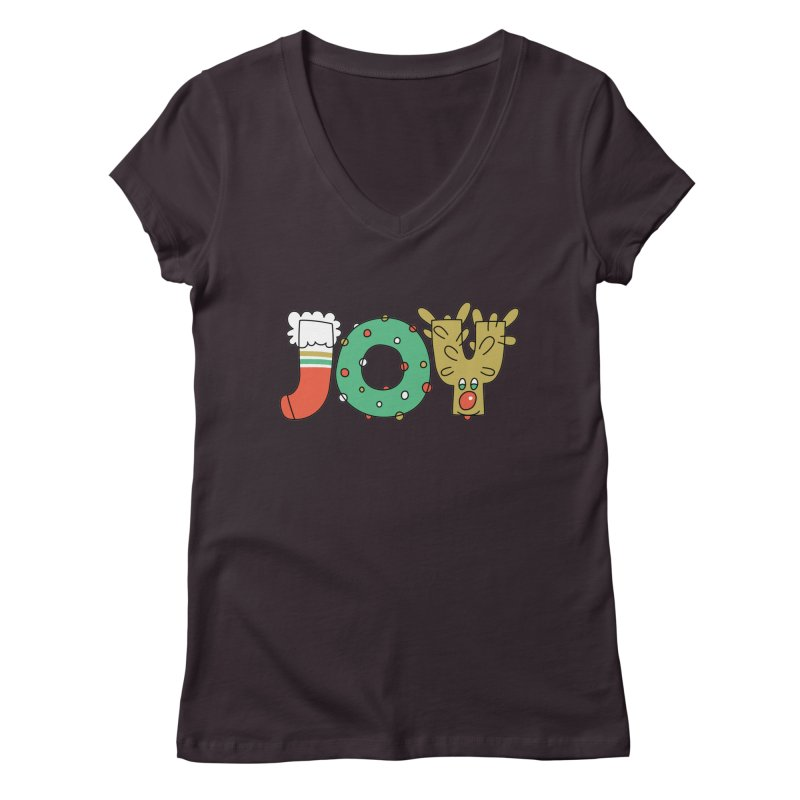 JOY (Christmas) Women's V-Neck by Hi Hello Greetings