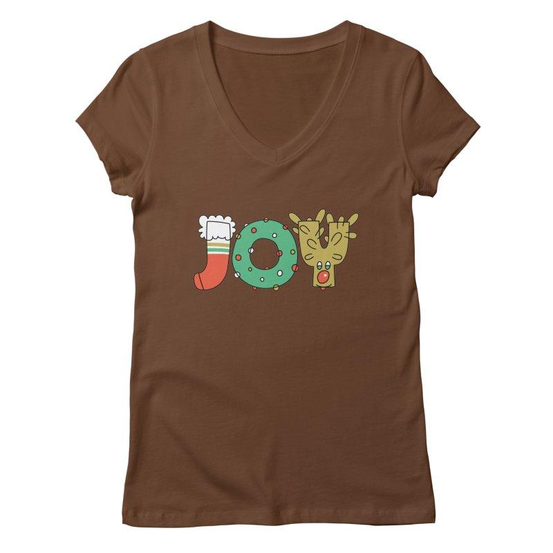 JOY (Christmas) Women's V-Neck by Hi Hello Greetings