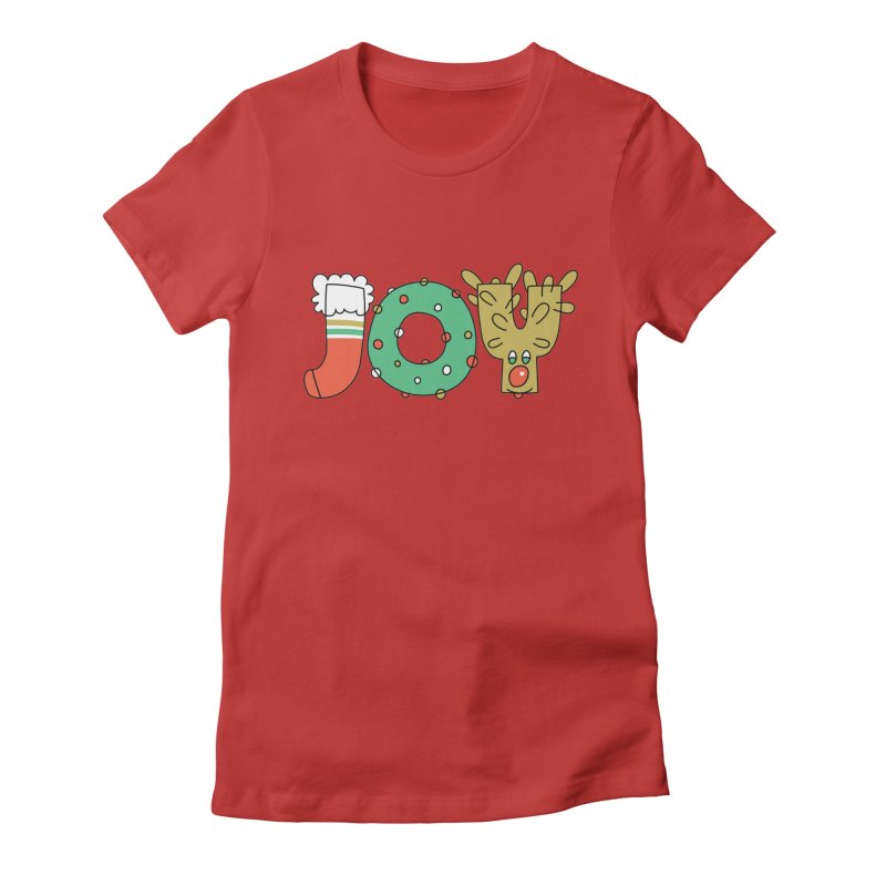 JOY (Christmas) Women's Fitted T-Shirt by Hi Hello Greetings