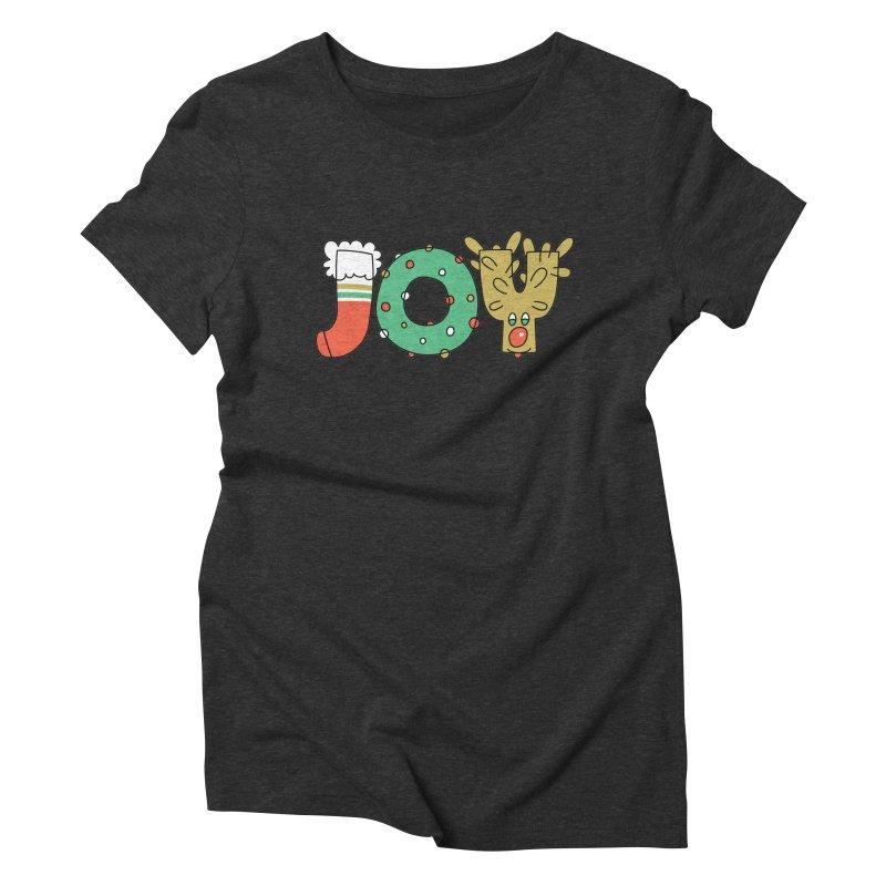 JOY (Christmas) Women's Triblend T-Shirt by Hi Hello Greetings