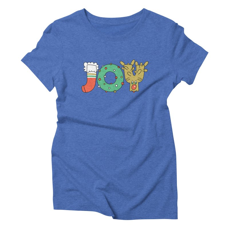 JOY (Christmas) Women's Triblend T-Shirt by Hi Hello Greetings
