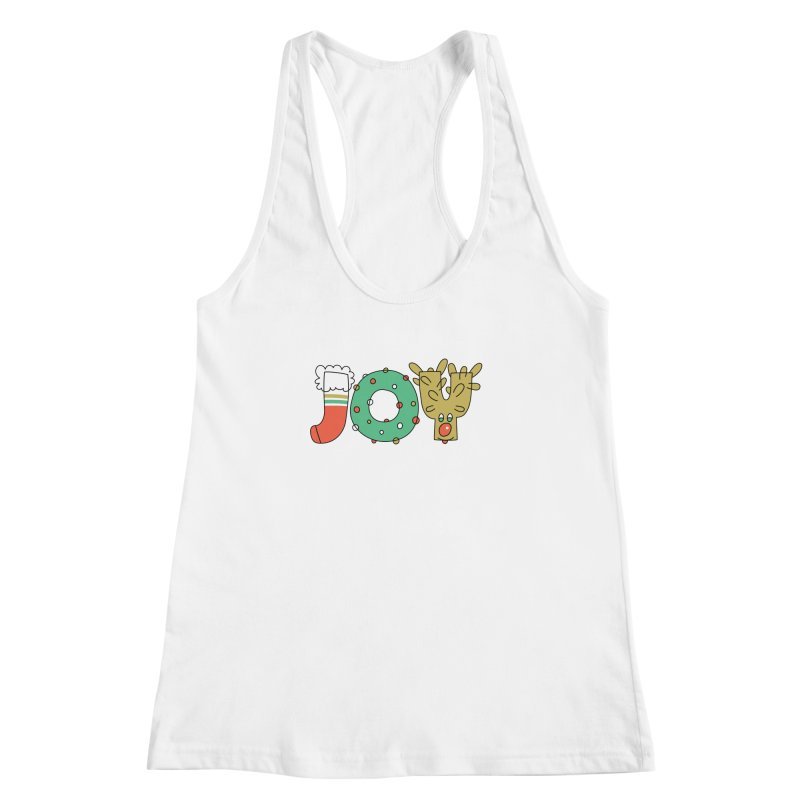 JOY (Christmas) Women's Racerback Tank by Hi Hello Greetings