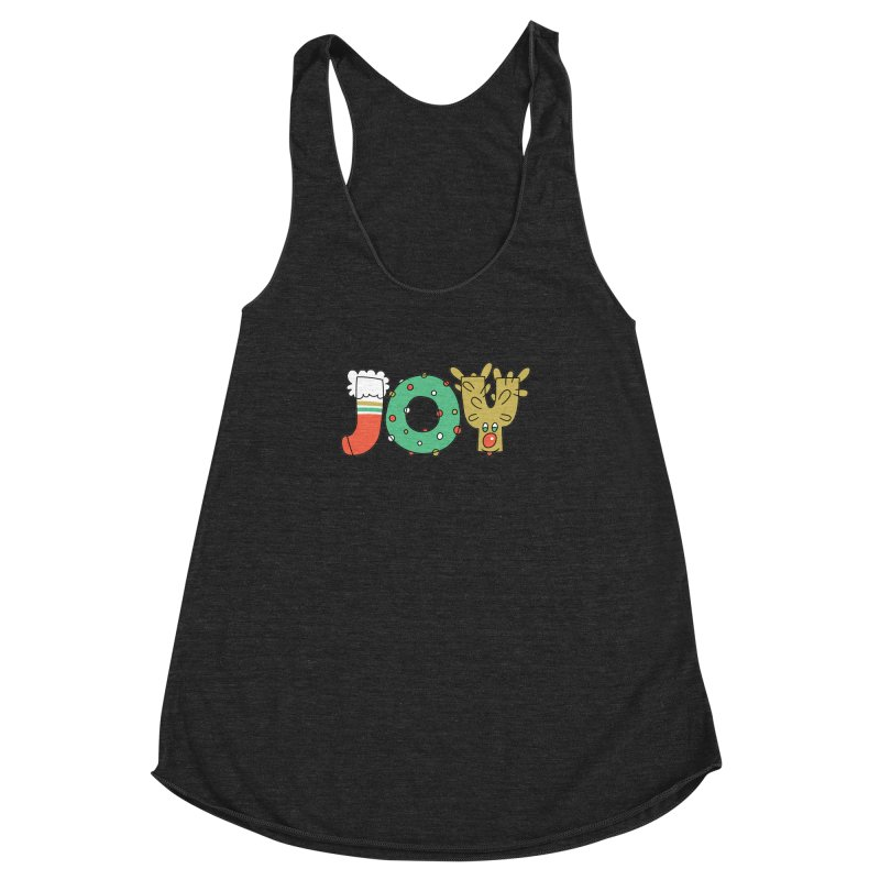 JOY (Christmas) Women's Racerback Triblend Tank by Hi Hello Greetings