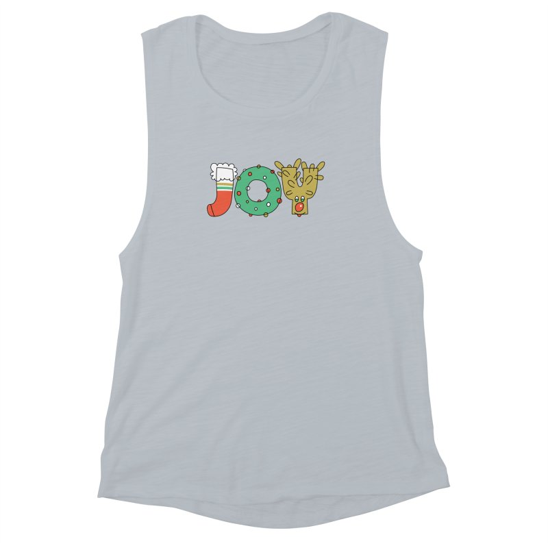 JOY (Christmas) Women's Muscle Tank by Hi Hello Greetings