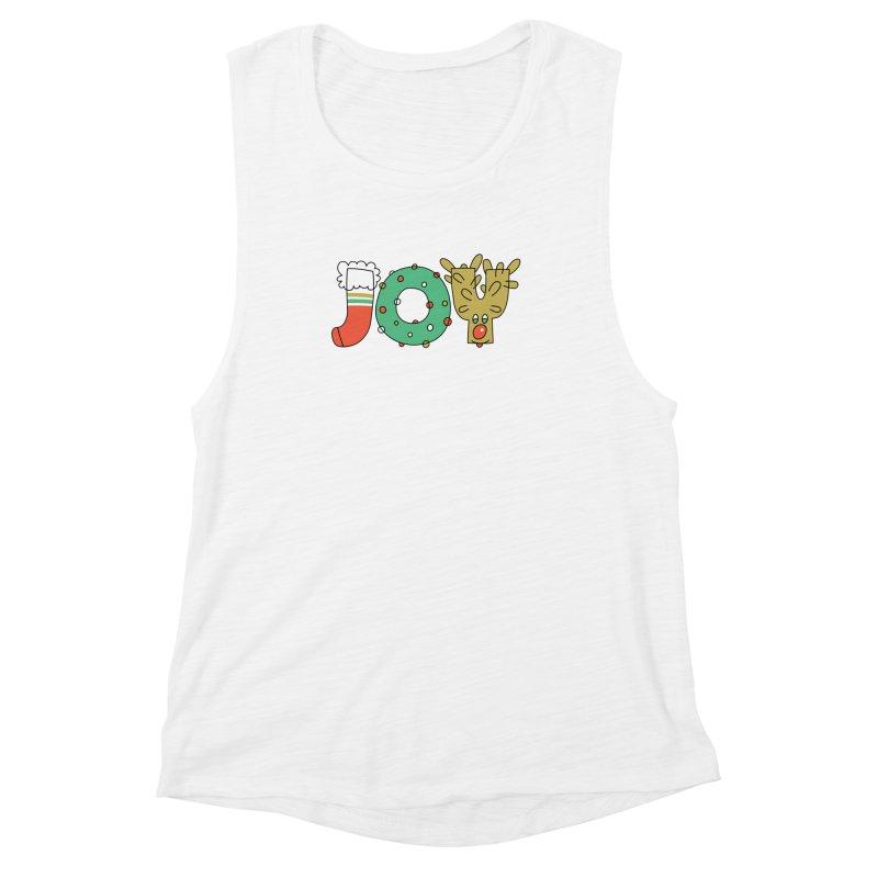 JOY (Christmas) Women's Muscle Tank by Hi Hello Greetings