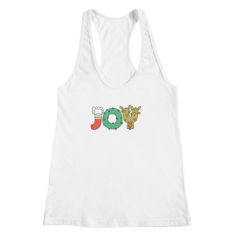 JOY (Christmas) Women's Racerback Tank by Hi Hello Greetings