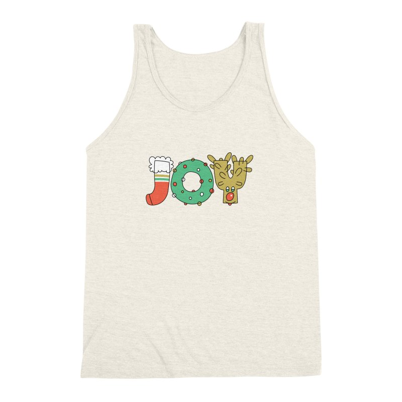 JOY (Christmas) Men's Triblend Tank by Hi Hello Greetings
