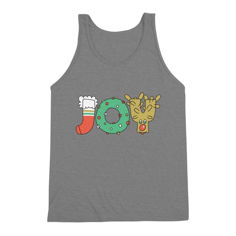 JOY (Christmas) Men's Triblend Tank by Hi Hello Greetings