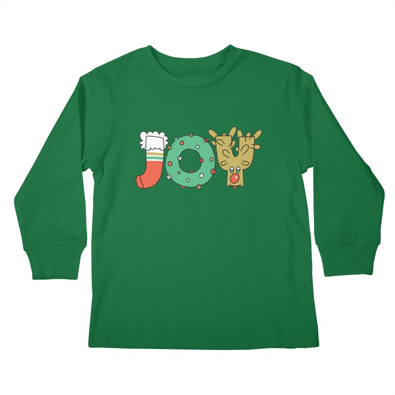 JOY (Christmas) Kids Longsleeve T-Shirt by Hi Hello Greetings
