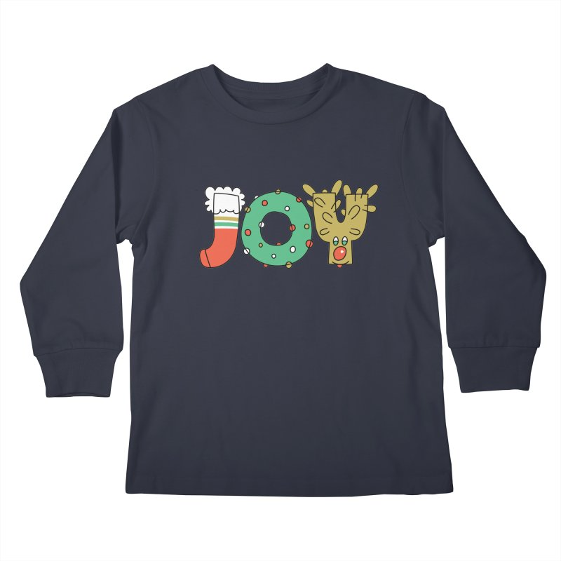 JOY (Christmas) Kids Longsleeve T-Shirt by Hi Hello Greetings