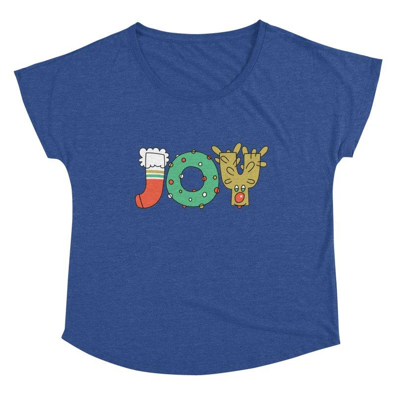 JOY (Christmas) Women's Scoop Neck by Hi Hello Greetings