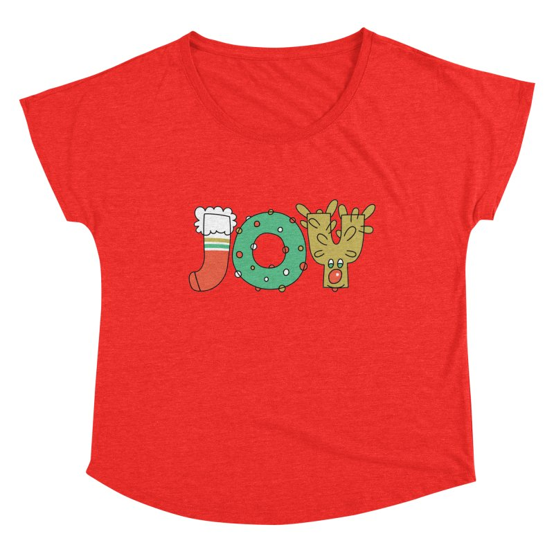 JOY (Christmas) Women's Scoop Neck by Hi Hello Greetings