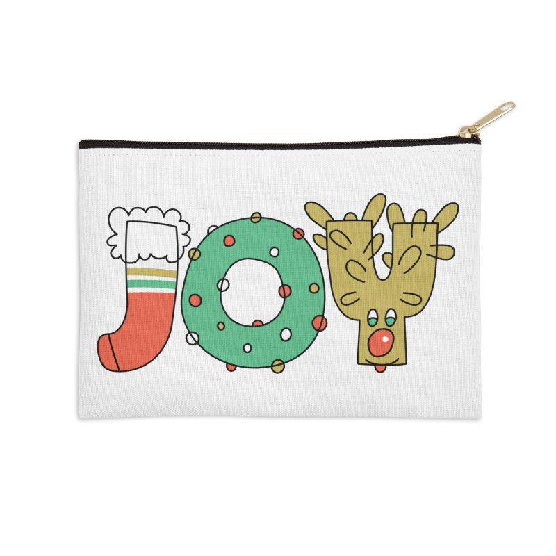 JOY (Christmas) Accessories Zip Pouch by Hi Hello Greetings