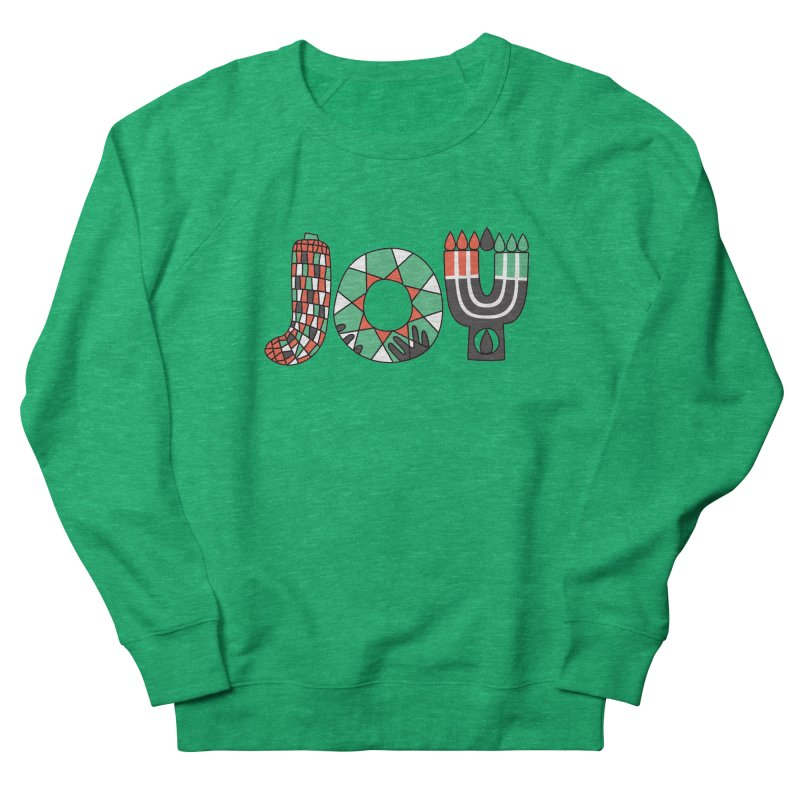 JOY (Kwanzaa) in Men's French Terry Sweatshirt Heather Kelly by Hi Hello Greetings