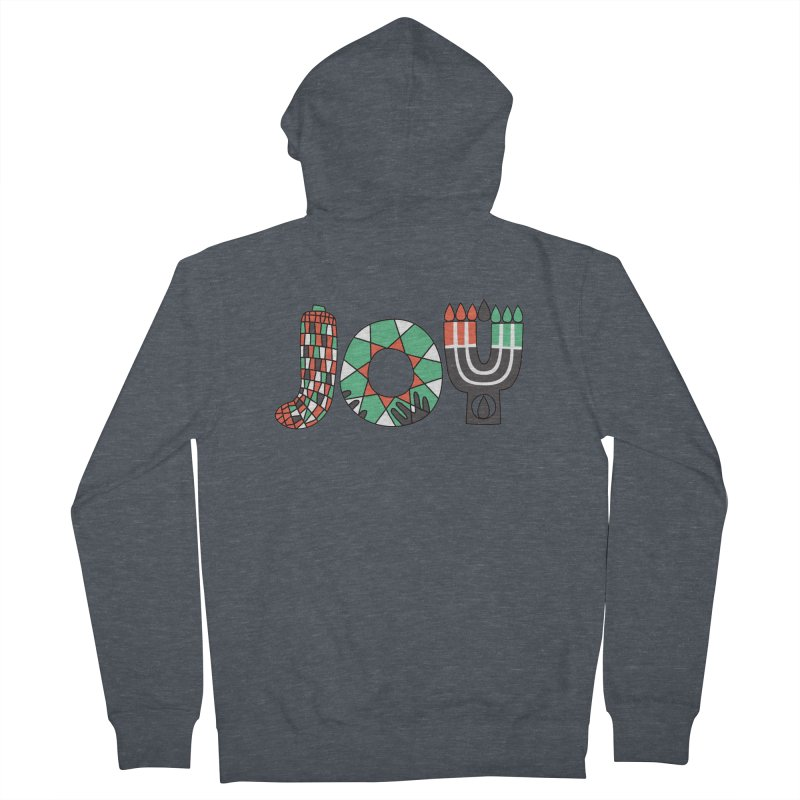 JOY (Kwanzaa) Women's French Terry Zip-Up Hoody by Hi Hello Greetings