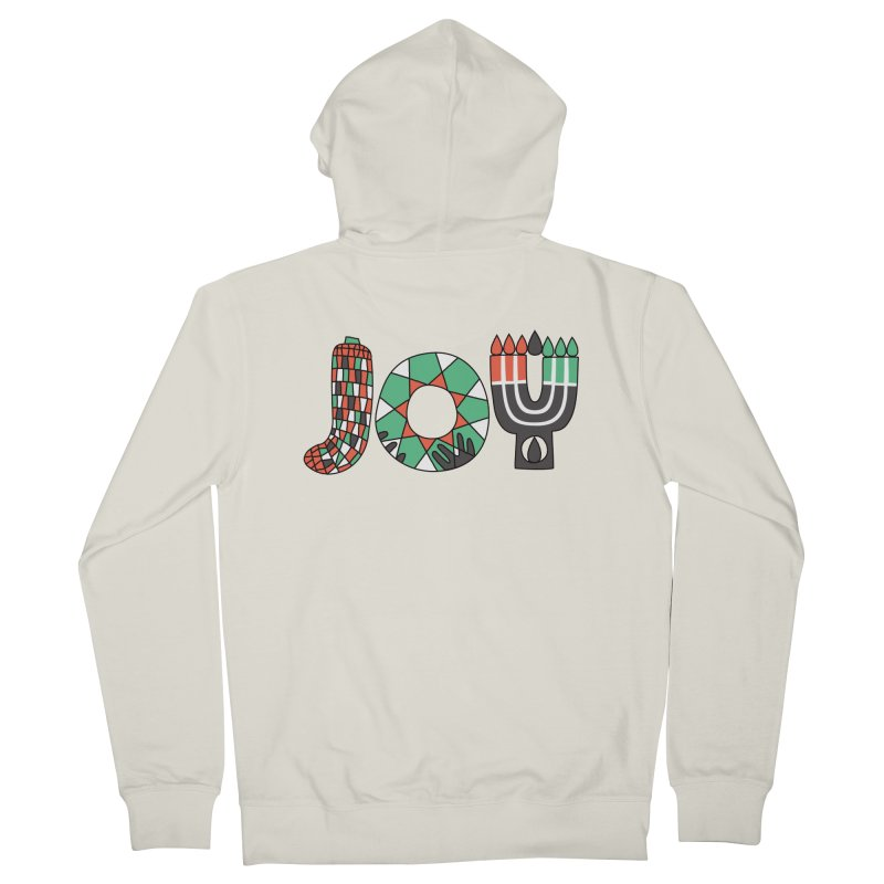 JOY (Kwanzaa) Men's French Terry Zip-Up Hoody by Hi Hello Greetings