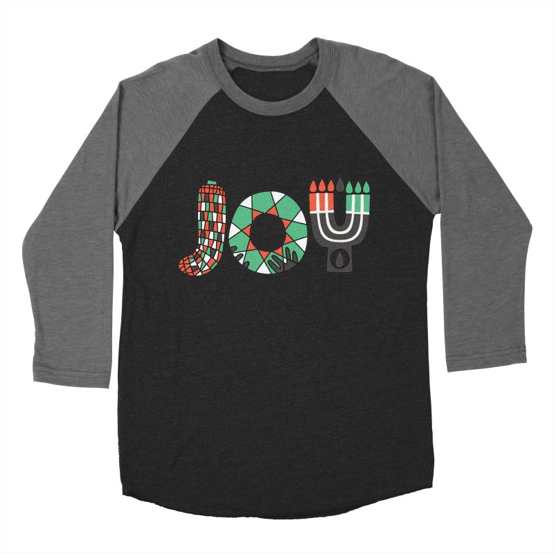 JOY (Kwanzaa) Women's Baseball Triblend Longsleeve T-Shirt by Hi Hello Greetings