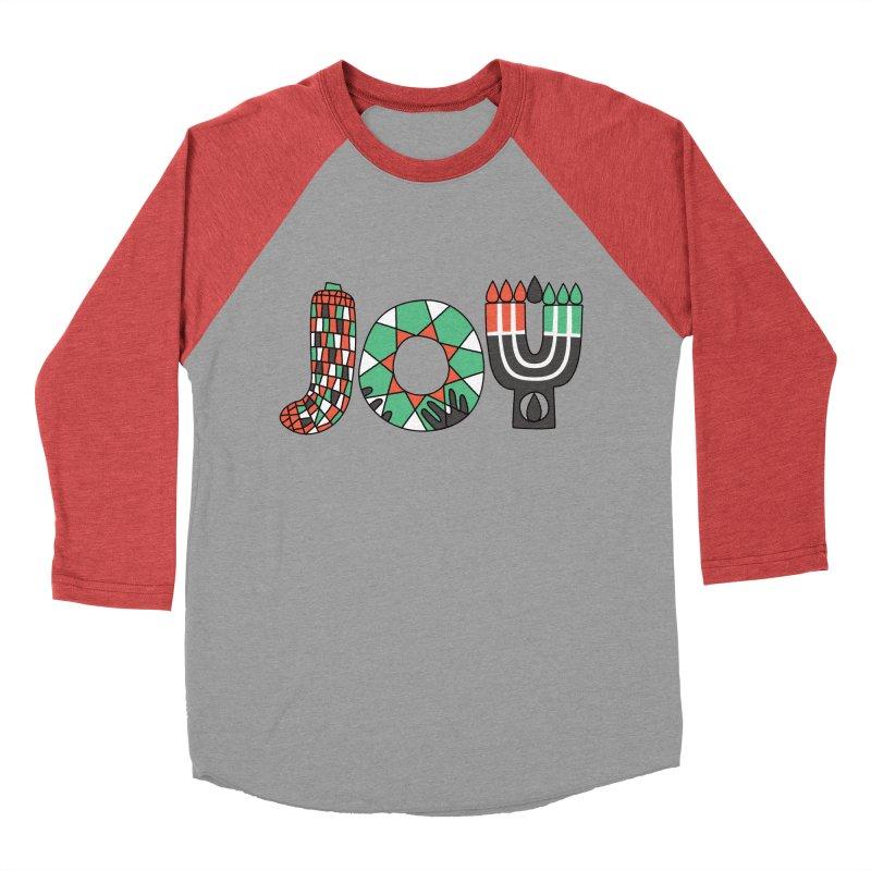 JOY (Kwanzaa) Men's Baseball Triblend Longsleeve T-Shirt by Hi Hello Greetings