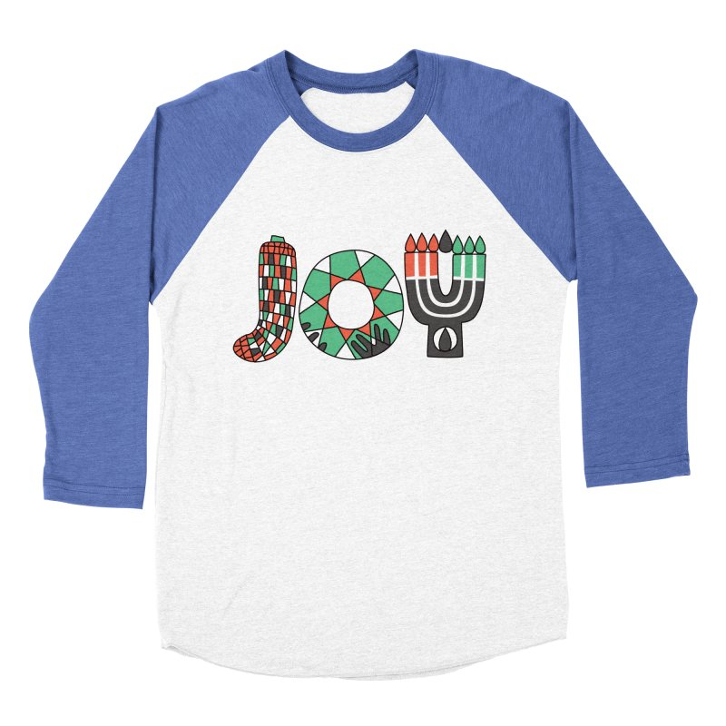 JOY (Kwanzaa) Men's Baseball Triblend Longsleeve T-Shirt by Hi Hello Greetings