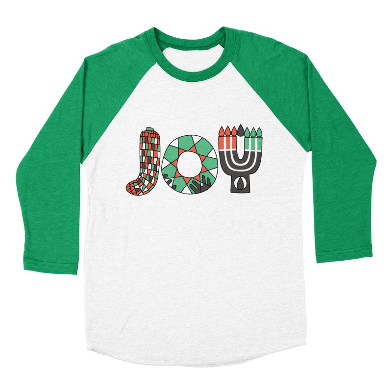 JOY (Kwanzaa) Men's Baseball Triblend T-Shirt by Hi Hello Greetings