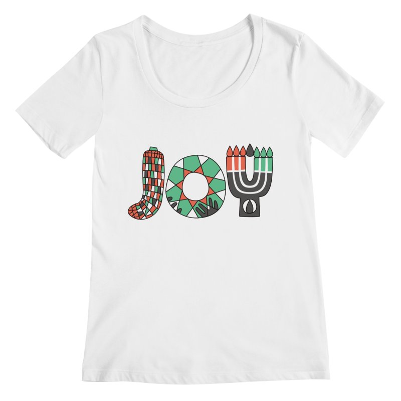 JOY (Kwanzaa) Women's Regular Scoop Neck by Hi Hello Greetings