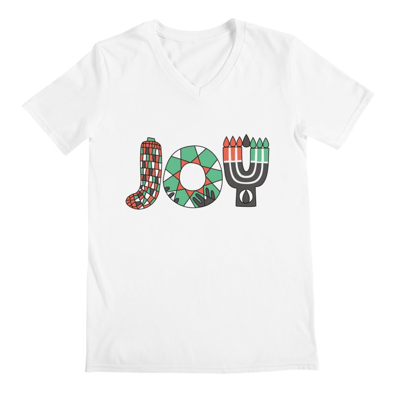 JOY (Kwanzaa) Men's Regular V-Neck by Hi Hello Greetings