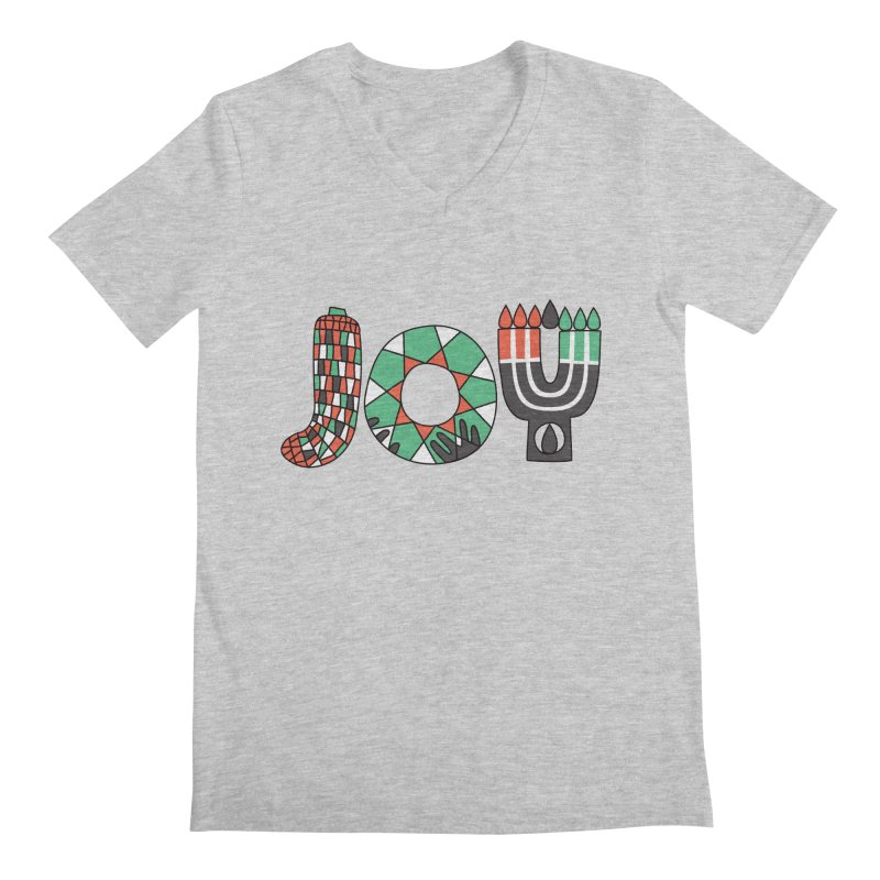 JOY (Kwanzaa) Men's V-Neck by Hi Hello Greetings
