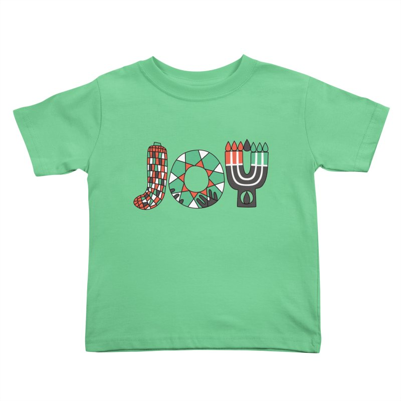 JOY (Kwanzaa) Kids Toddler T-Shirt by Hi Hello Greetings