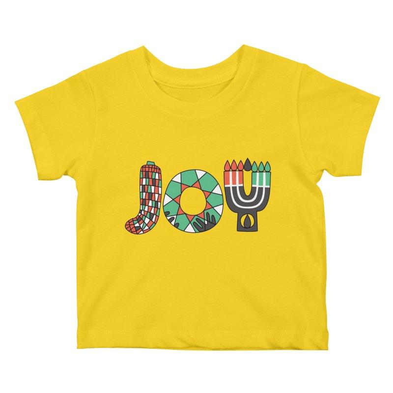 JOY (Kwanzaa) Kids Baby T-Shirt by Hi Hello Greetings